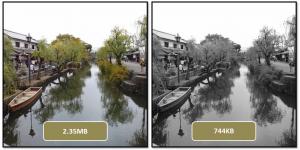 グレースケールによる画像容量